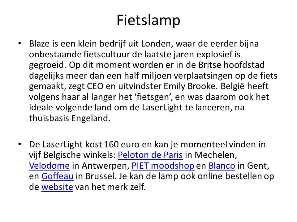 Fietslamp Blaze is een klein bedrijf uit Londen, waar de eerder bijna onbestaande fietscultuur de laatste jaren explosief is gegroeid.