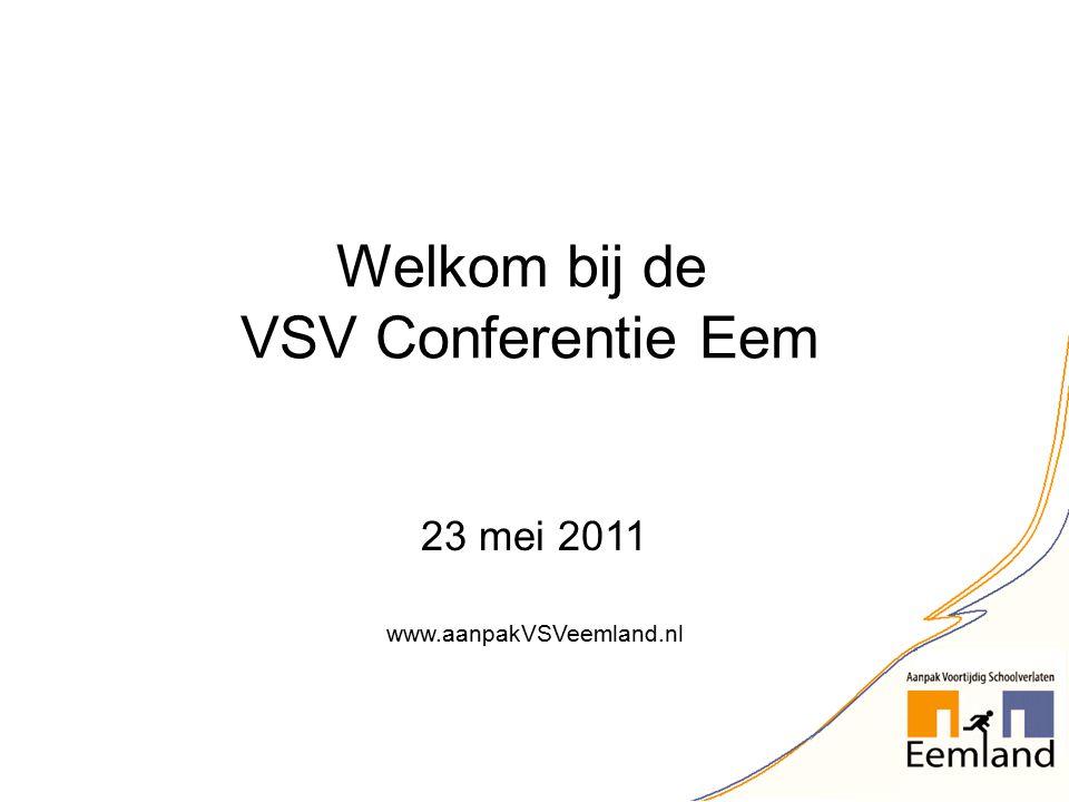 23 mei 2011 www.aanpakVSVeemland.nl Welkom bij de VSV Conferentie Eem