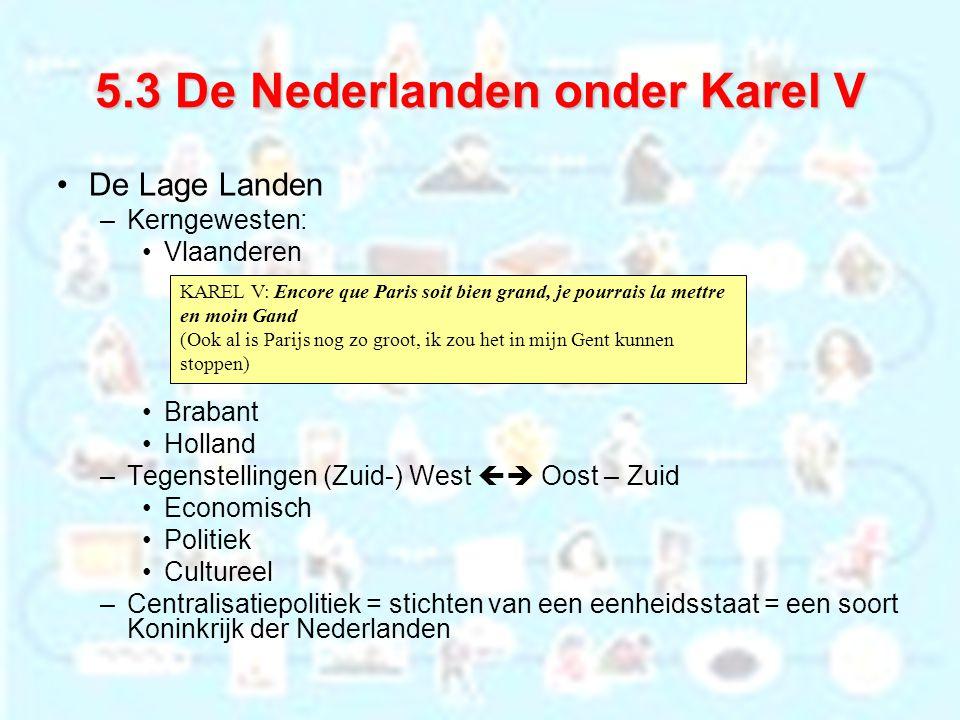 De Lage Landen –Kerngewesten: Vlaanderen Brabant Holland –Tegenstellingen (Zuid-) West  Oost – Zuid Economisch Politiek Cultureel –Centralisatiepoli