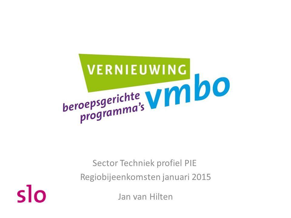 Sector Techniek profiel PIE Regiobijeenkomsten januari 2015 Jan van Hilten