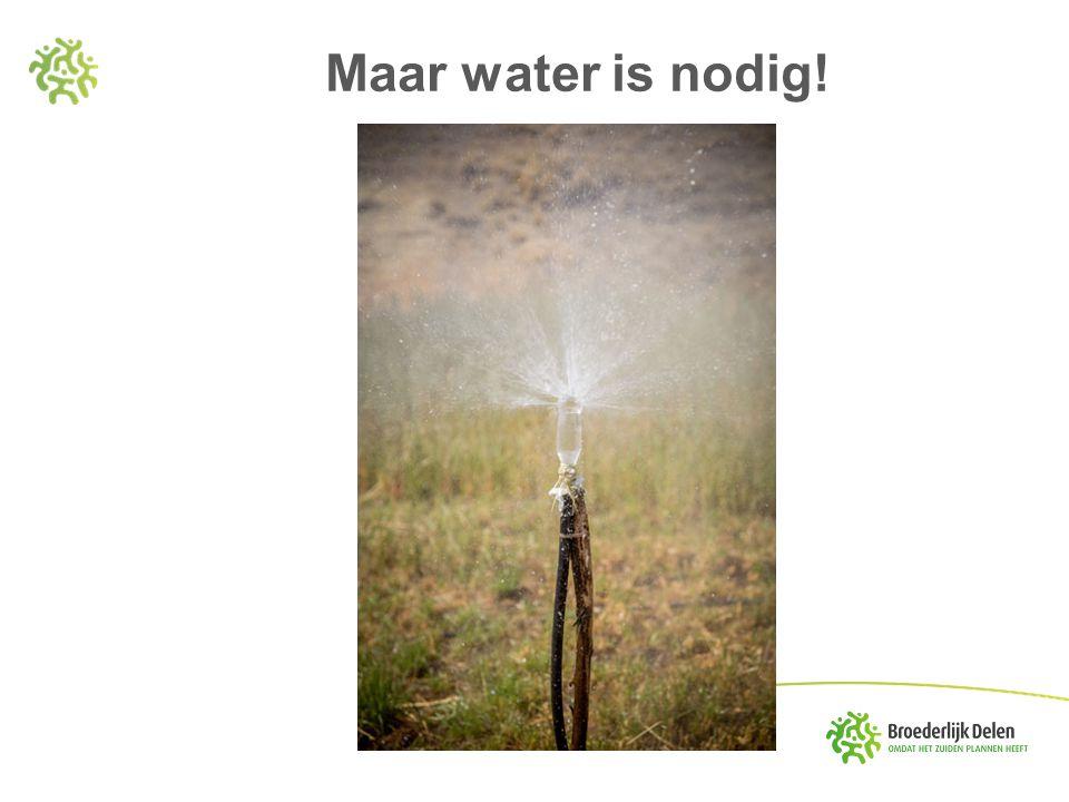 Maar water is nodig!