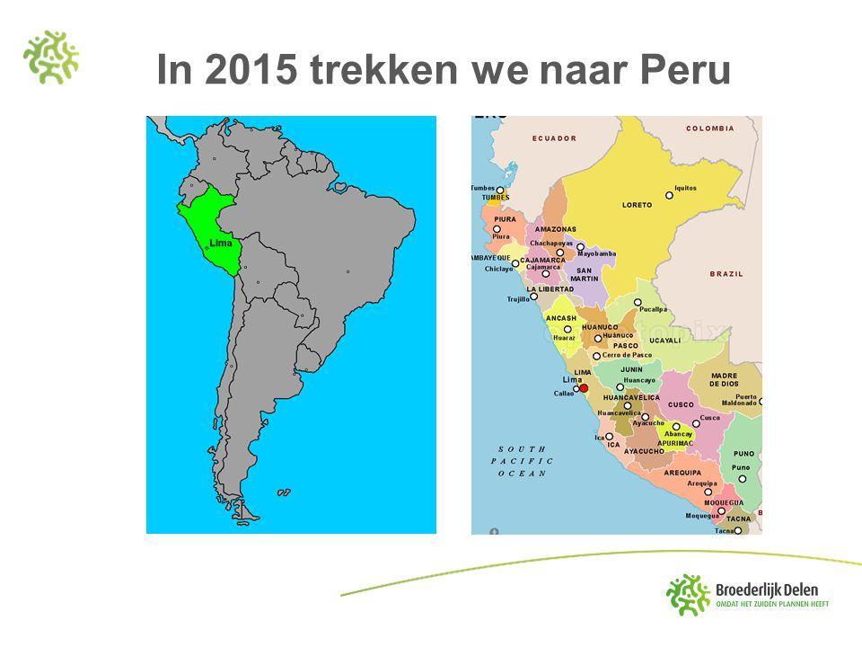 In 2015 trekken we naar Peru