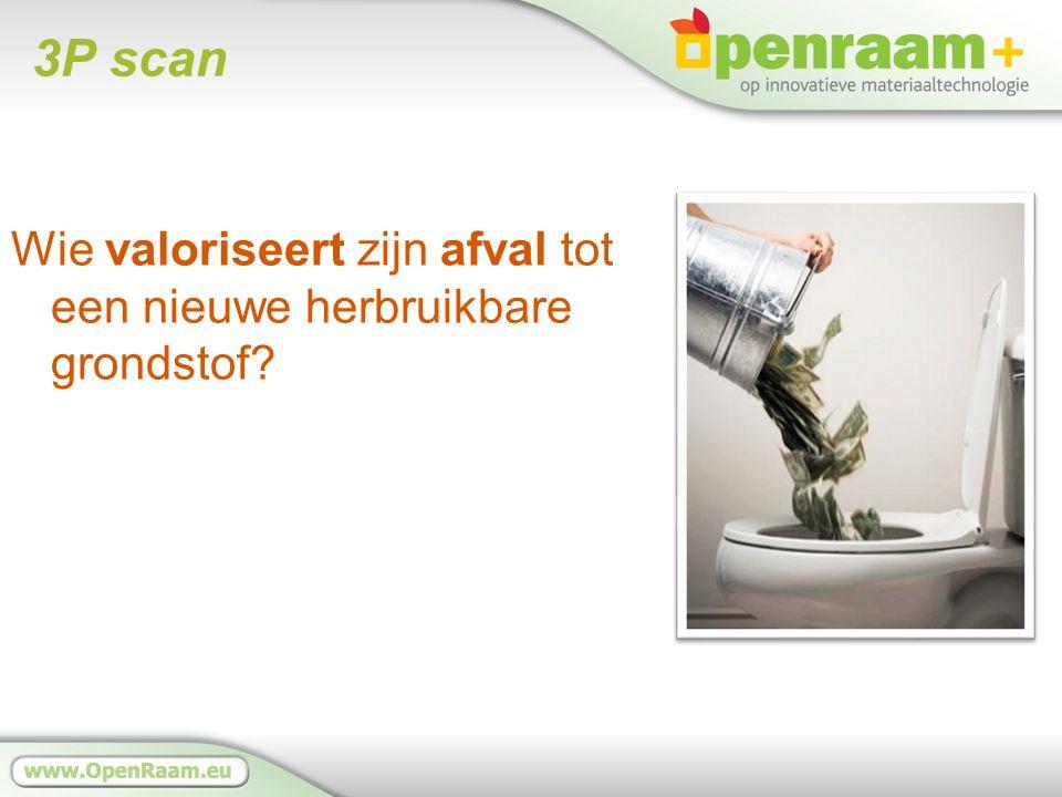3P scan Wie valoriseert zijn afval tot een nieuwe herbruikbare grondstof?