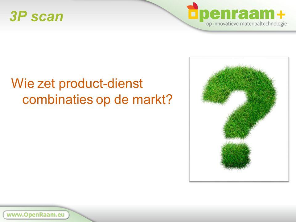 3P scan Wie zet product-dienst combinaties op de markt?