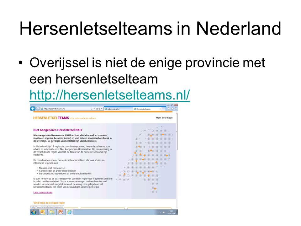 Hersenletselteams in Nederland Overijssel is niet de enige provincie met een hersenletselteam http://hersenletselteams.nl/ http://hersenletselteams.nl