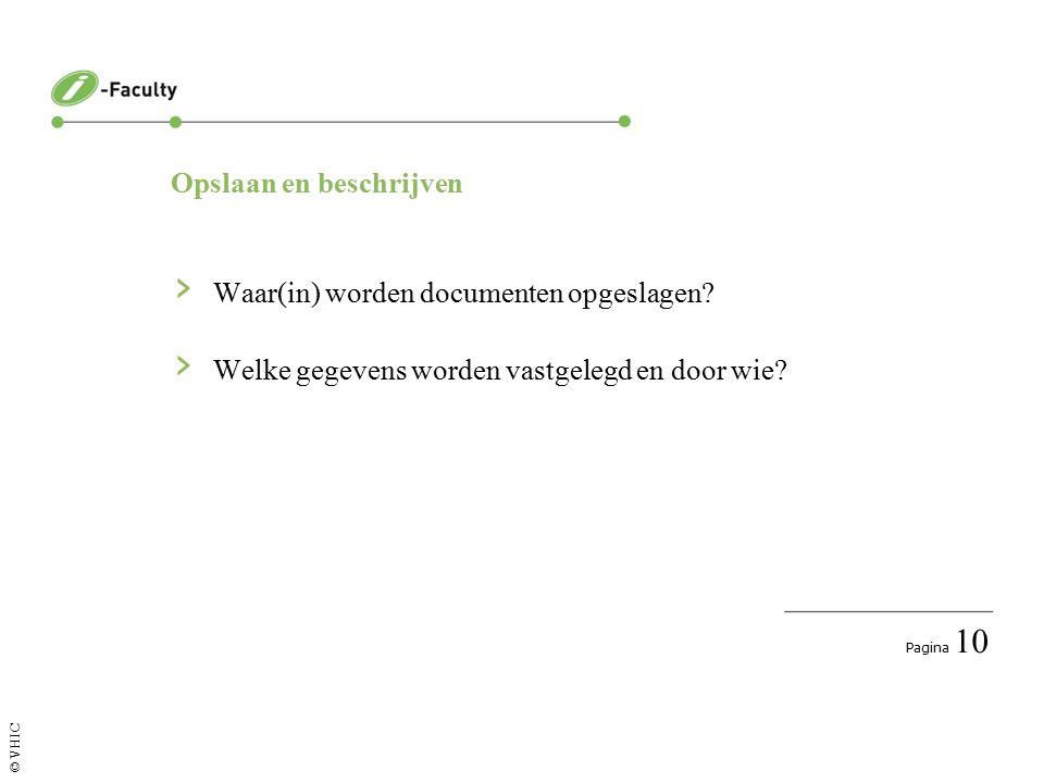 Pagina 10 © VHIC Opslaan en beschrijven › Waar(in) worden documenten opgeslagen.