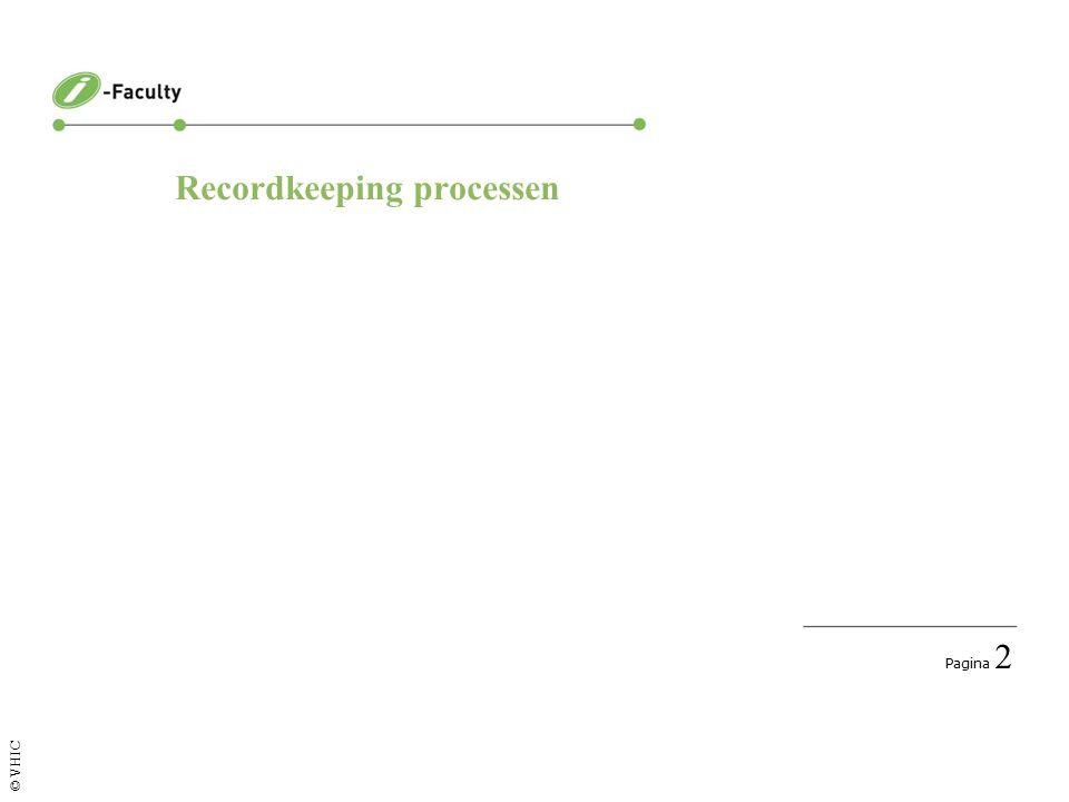 Pagina 2 © VHIC Recordkeeping processen