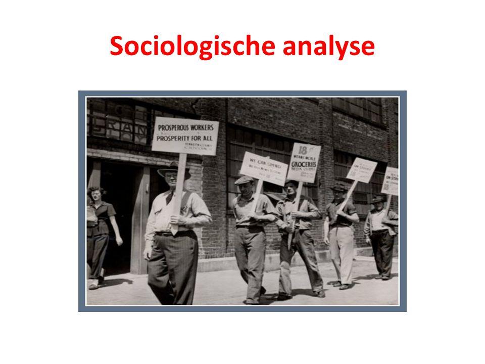 4 Universele problemen: Solidariteit (wie horen bij wie) Hiërarchie (wie staan boven wie) Arbeidsdeling (wie doen wat en voor wie) Bezit (van wie is wat) Menselijk handelen en onbedoelde gevolgen: taak van de sociologie