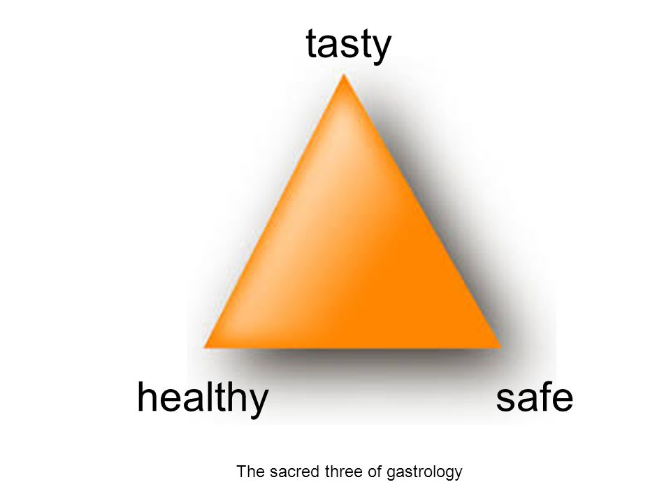 tasty healthysafe The sacred three of gastrology