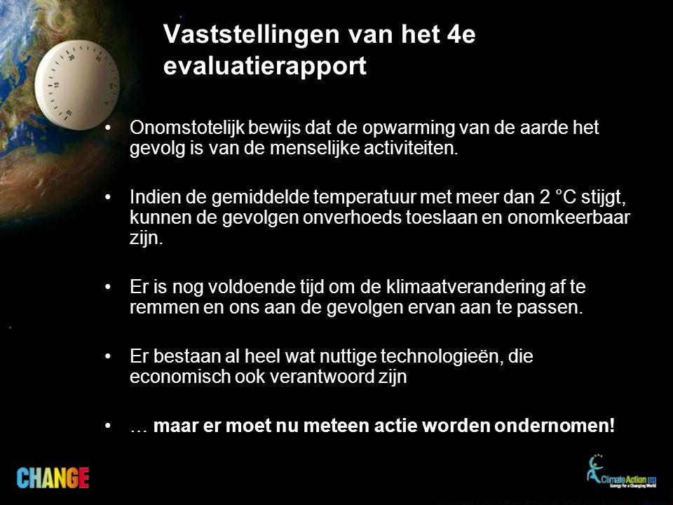 Vaststellingen van het 4e evaluatierapport Onomstotelijk bewijs dat de opwarming van de aarde het gevolg is van de menselijke activiteiten.