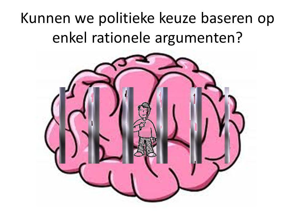 Kunnen we politieke keuze baseren op enkel rationele argumenten?
