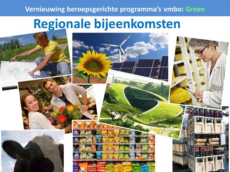 Vernieuwing beroepsgerichte programma's vmbo: Groen Regionale bijeenkomsten