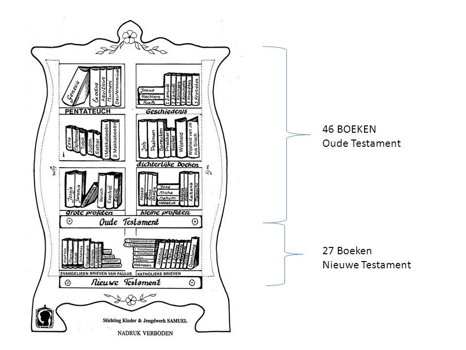 46 BOEKEN Oude Testament 27 Boeken Nieuwe Testament