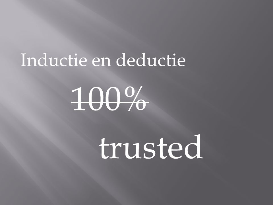 Inductie en deductie 100% trusted
