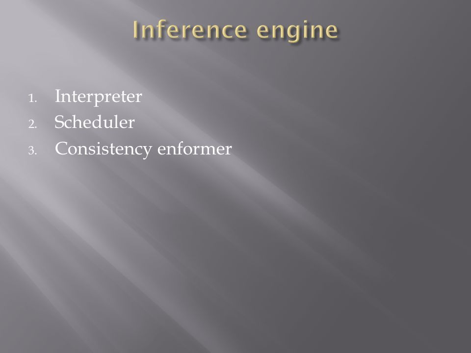 1. Interpreter 2. Scheduler 3. Consistency enformer