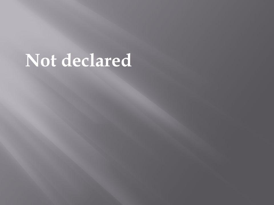 Not declared