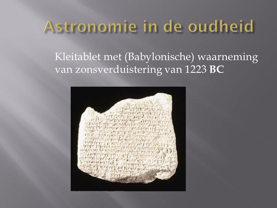 Kleitablet met (Babylonische) waarneming van zonsverduistering van 1223 BC