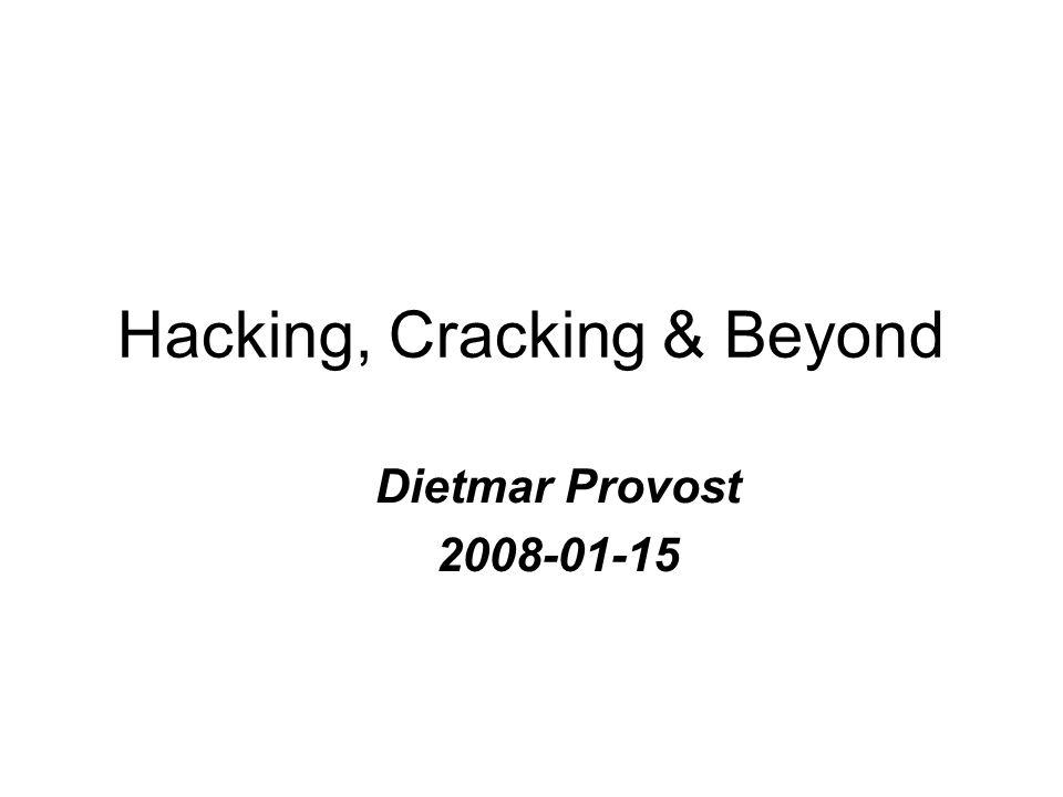 Misbruik van de hacker-ethiek Wordt als dekmantel gebruikt om bepaalde acties te trachten rechtvaardigen.