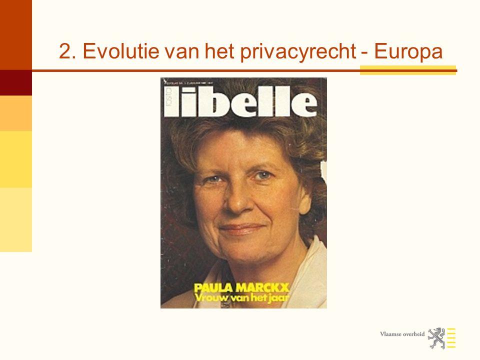 2. Evolutie van het privacyrecht - Europa