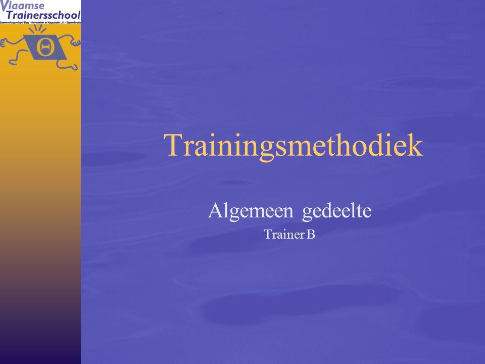 2 Doel  Inzicht verwerven in het trainen van de eigenschappen die belangrijk zijn voor het fysiek prestatievermogen Rode draad   Alle methodieken zijn erop gericht om - in functie van de doelstelling – de gepaste aanpassingen binnen het lichaam uit te lokken.