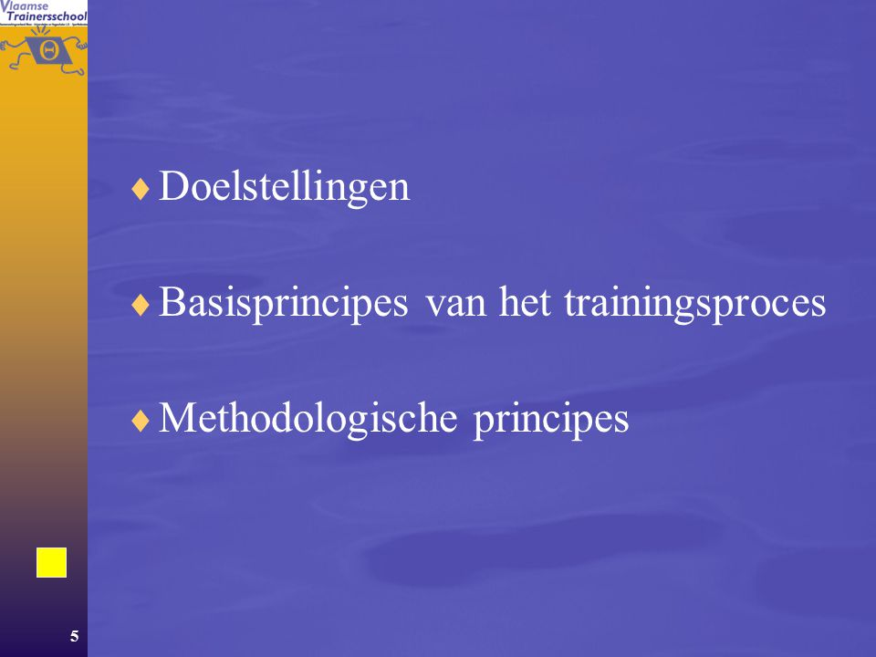 146 Inhoud  Deel 1 Trainingsprincipes  Deel 2Trainingsmethodiek UHet uithoudingsvermogen KDe kracht SDe snelheid LDe lenigheid  Deel 3Plannen en periodiseren  Deel 4Planning en methodiek van de jeugdtraining  Deel 5Voedingsmethodiek