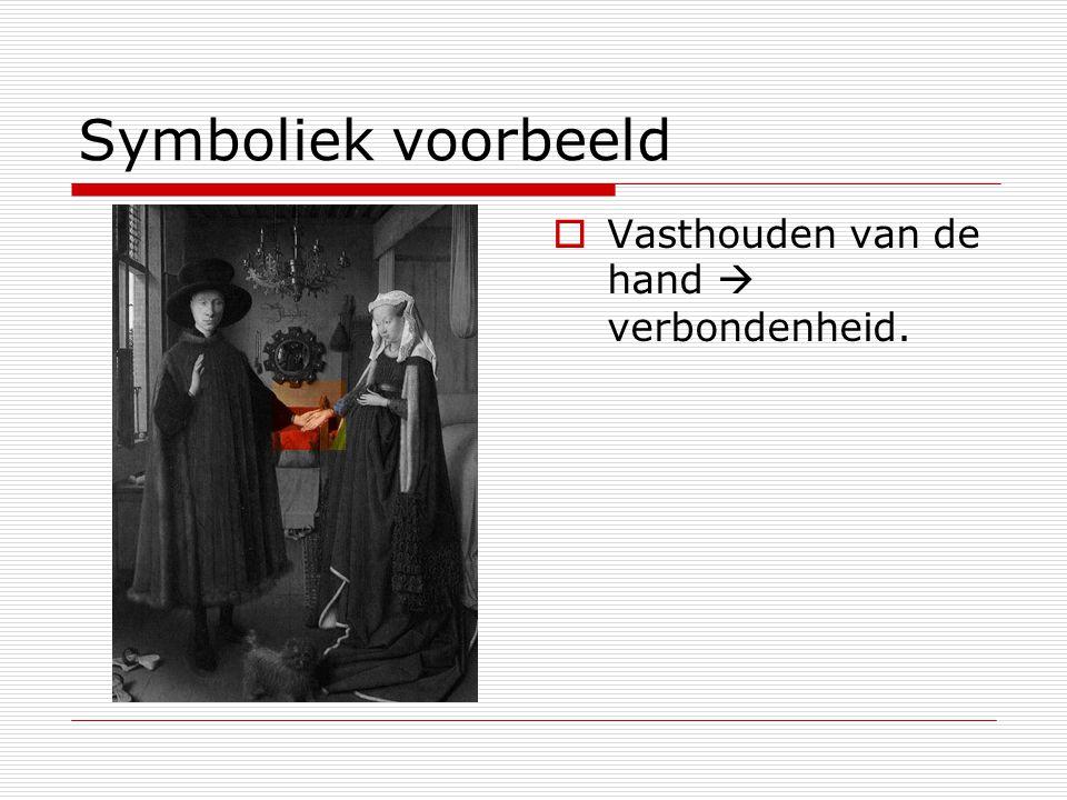 Symboliek voorbeeld  Vasthouden van de hand  verbondenheid.