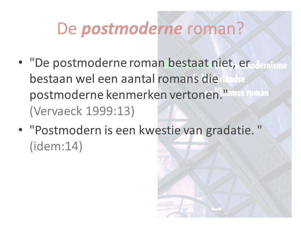 dissémination (Derrida) De beelden steunen op elkaar, niet op een vooraf bestaande realiteit. (Vervaeck 1999:52) Er is niet eerst de boodschap die de auteur kwijt wil en dan een boek dat als doorgeefluik fungeert. (referentie aan Derrida in Vervaeck 1999: 91) Tussen orde en chaos