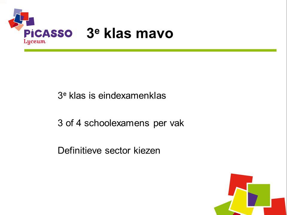 3 e klas mavo 3 e klas is eindexamenklas 3 of 4 schoolexamens per vak Definitieve sector kiezen