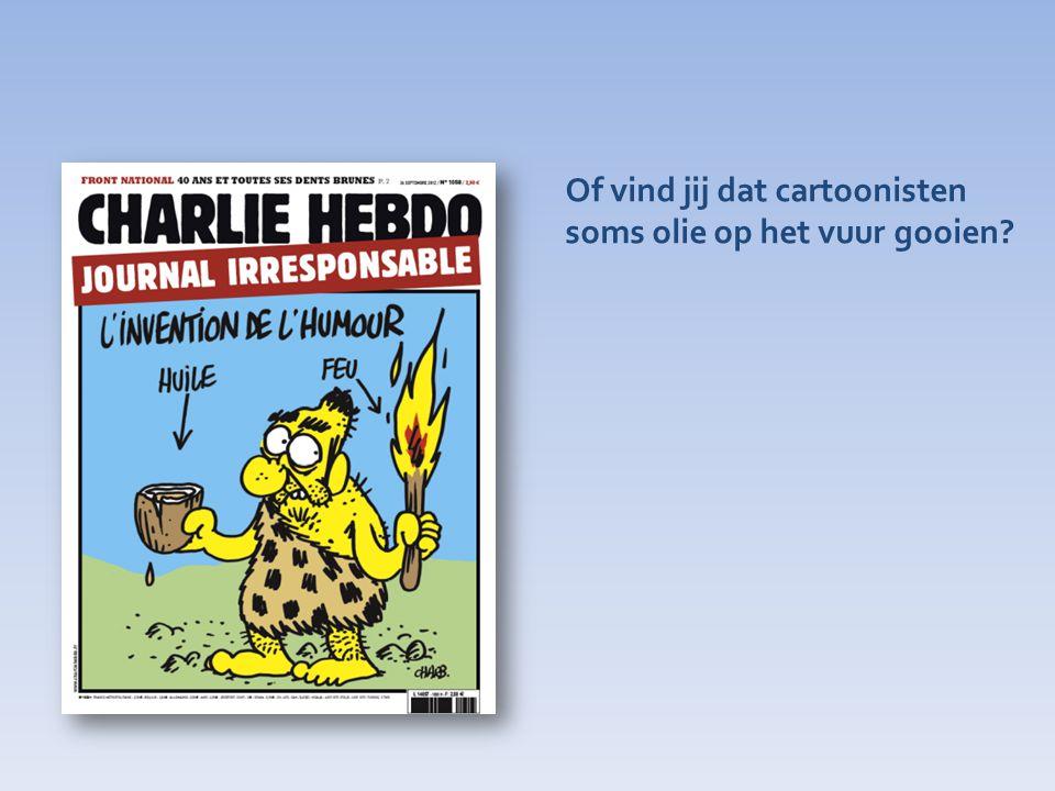 Of vind jij dat cartoonisten soms olie op het vuur gooien?