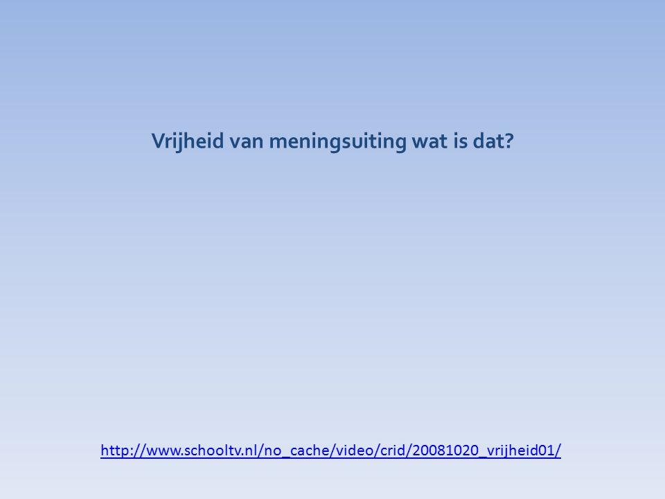 http://www.schooltv.nl/no_cache/video/crid/20081020_vrijheid01/ Vrijheid van meningsuiting wat is dat?