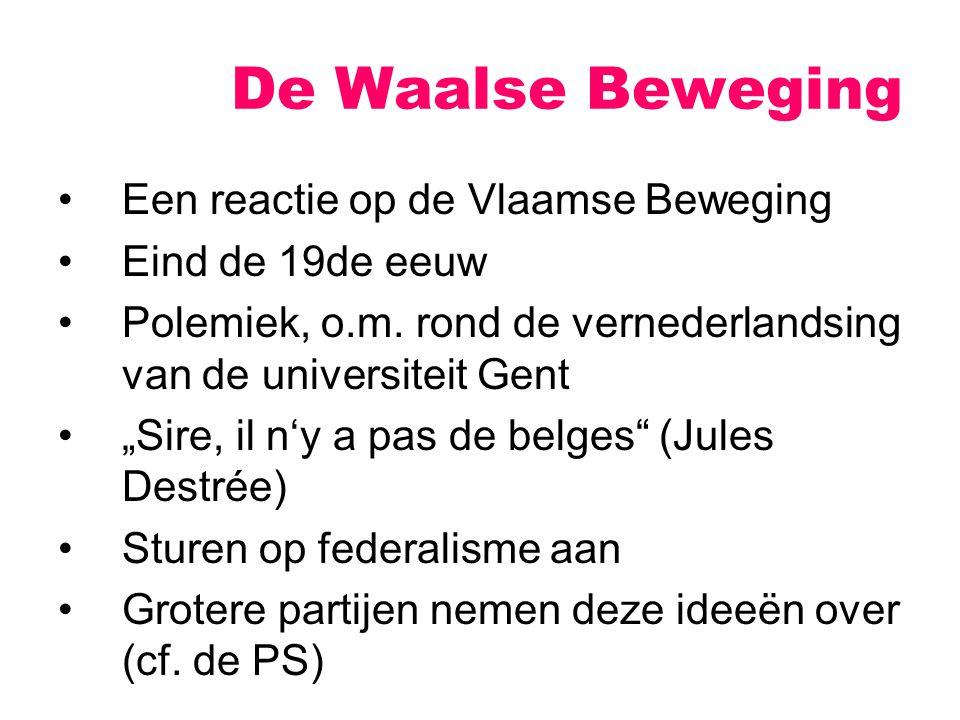 Een reactie op de Vlaamse Beweging Eind de 19de eeuw Polemiek, o.m.