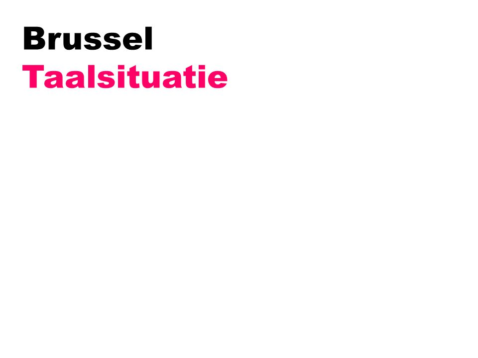 Brussel Taalsituatie
