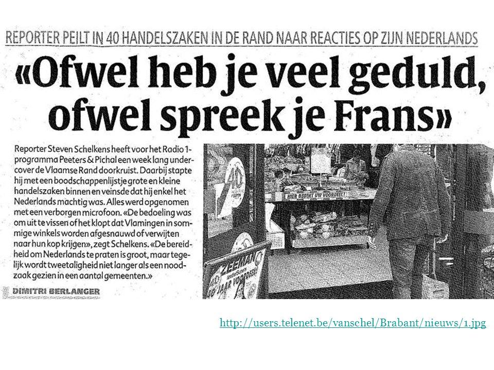 Geschiedenis van het Nederlands  Het Nederlands in het Zuiden http://users.telenet.be/vanschel/Brabant/nieuws/1.jpg
