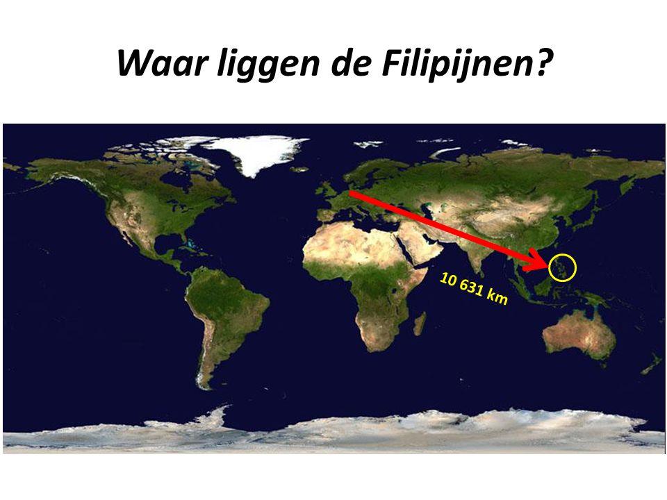 Waar liggen de Filipijnen? 10 631 km