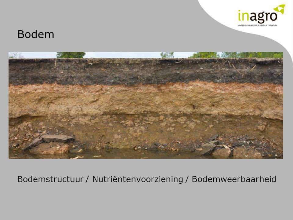 Bodem Bodemstructuur / Nutriëntenvoorziening / Bodemweerbaarheid