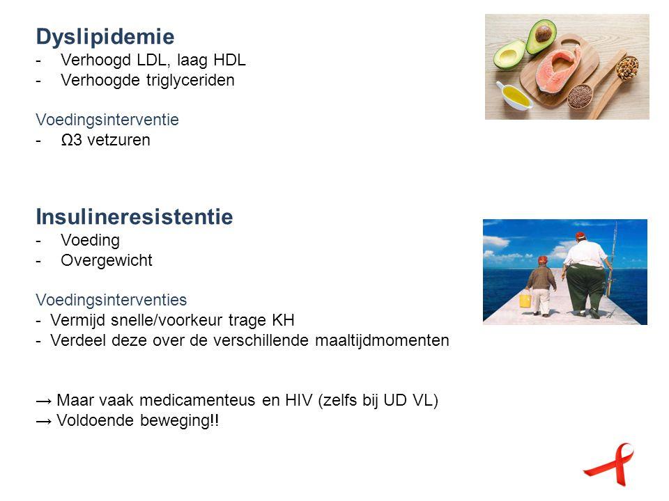 Dyslipidemie -Verhoogd LDL, laag HDL -Verhoogde triglyceriden Voedingsinterventie -Ω3 vetzuren Insulineresistentie -Voeding -Overgewicht Voedingsinter