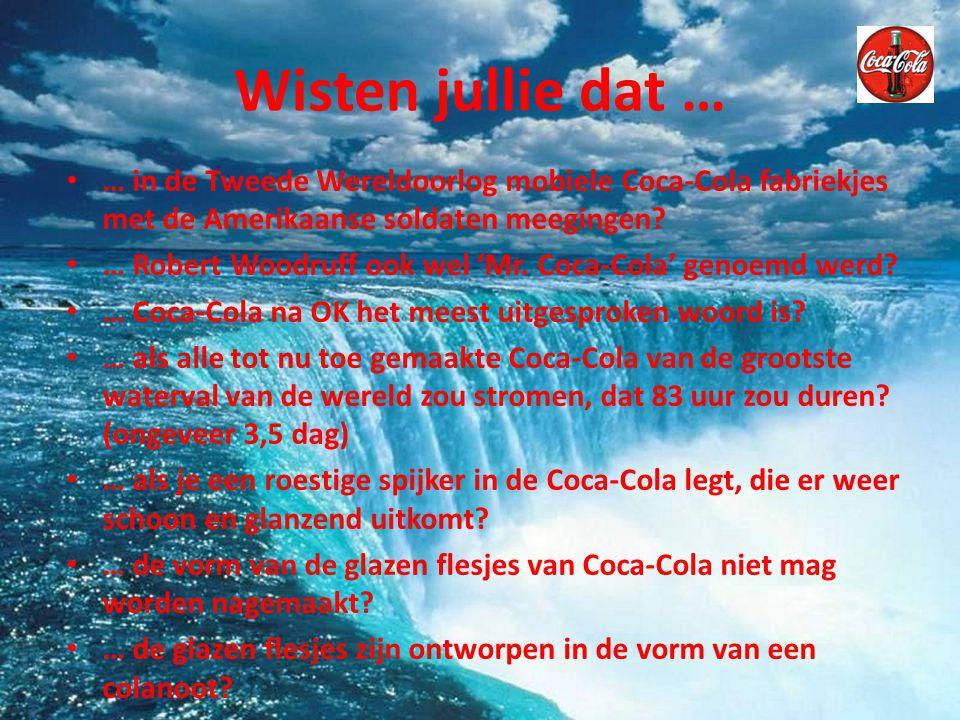 Quiz 1.Welke evenementen sponsort Coca Cola. 2. Welke soorten Cola maakt Coca Cola.