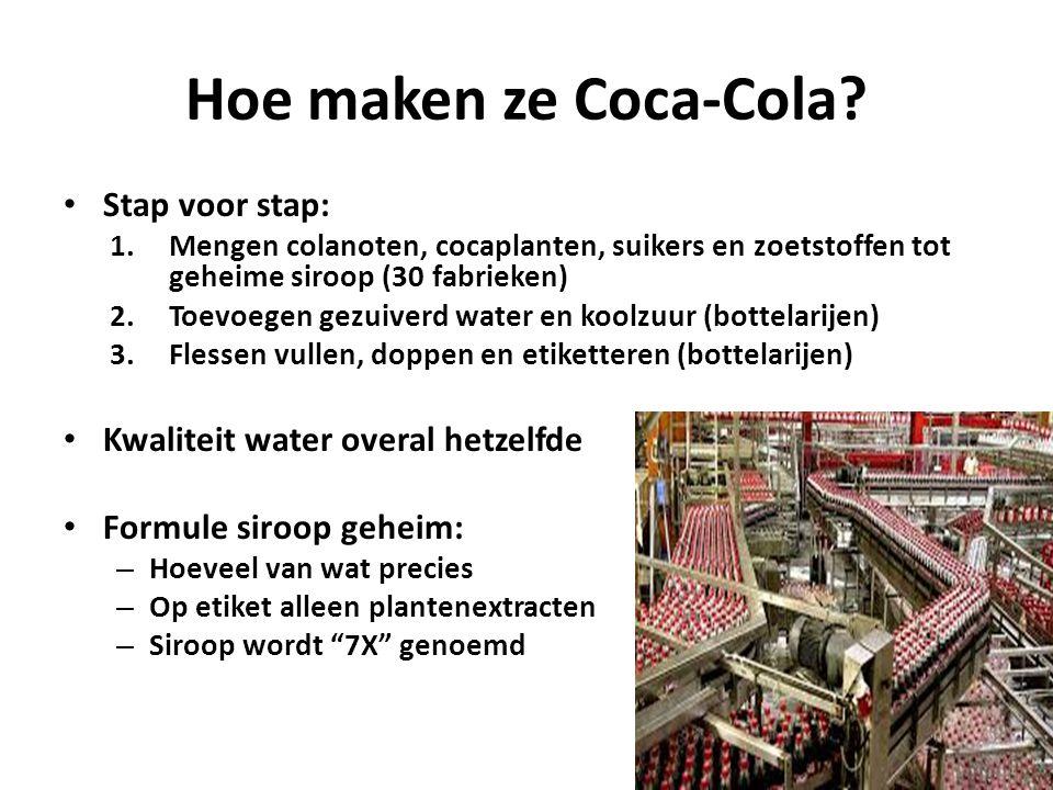 Reclame Imago: vrijheid, vrolijkheid, gezondheid, lekker leven Reclameslogans – Delicious and refreshing (heerlijk en verfrissend) – Thirst knows no season (dorst kent geen seizoen) – Six million a day (zes miljoen per dag) – The pause that refreshes (de pauze die verfrist) – It's the real thing (het is je ware) – Things go better with Coke (dingen gaan beter met Coke) – Coke is it (Coke is het) – Can't beat the feeling (niet te evenaren gevoel) https://www.youtube.com/watch?v=_8GHchvvzms Kerstman https://www.youtube.com/watch?v=b6liVLkW-U8 https://www.youtube.com/watch?v=b6liVLkW-U8