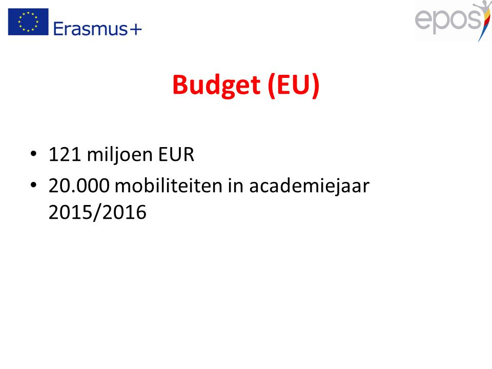 Algemene doelstellingen Gelden voor 7 jaren op EU-niveau 10 budgettaire enveloppes Geografisch evenwicht: niet enkel BRICS – DCI Asia: max.