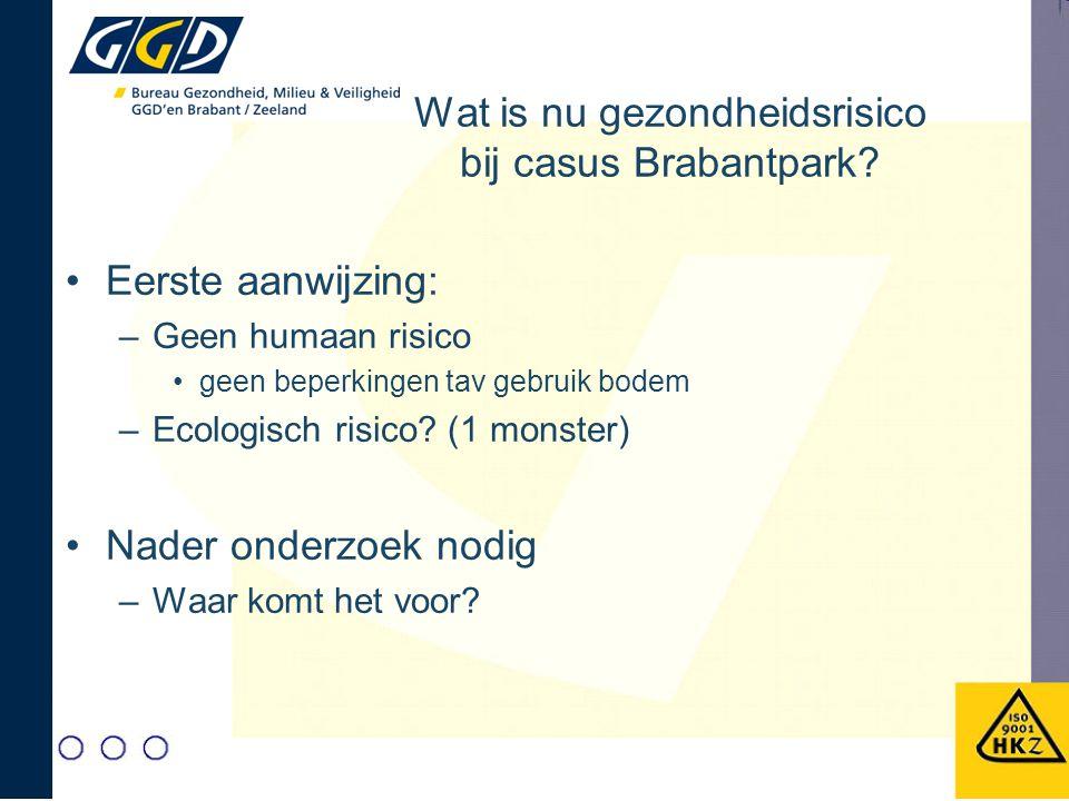 Wat is nu gezondheidsrisico bij casus Brabantpark.