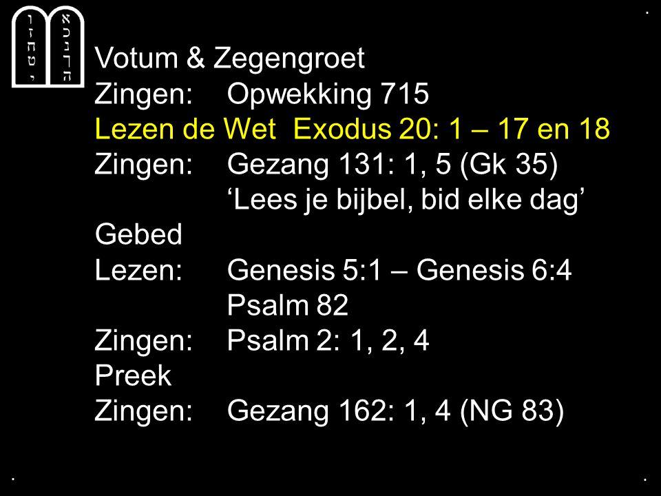Liedboek 477: 1a, 2a