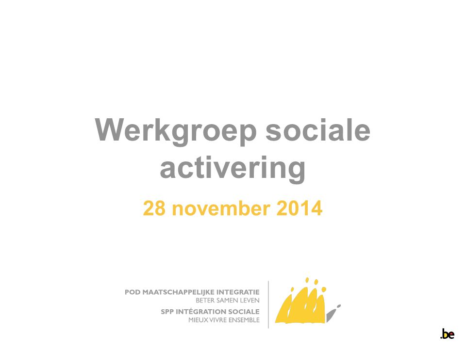 Werkgroep sociale activering 28 november 2014