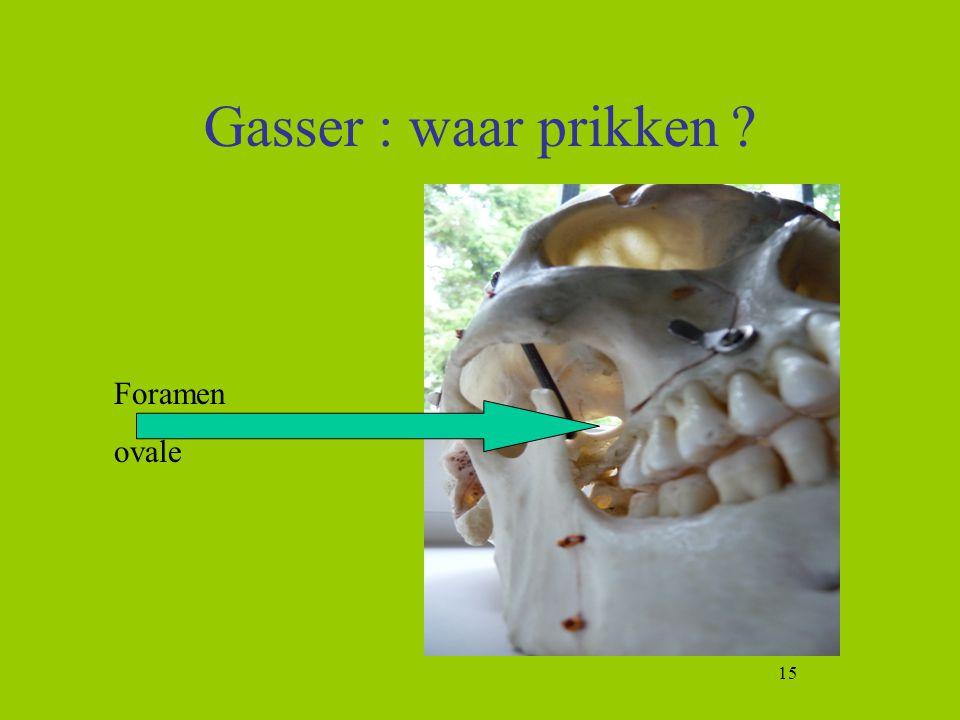 15 Gasser : waar prikken ? Foramen ovale