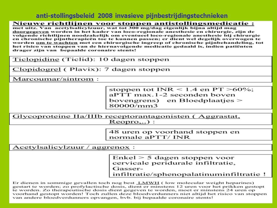 anti-stollingsbeleid 2008 invasieve pijnbestrijdingstechnieken 28