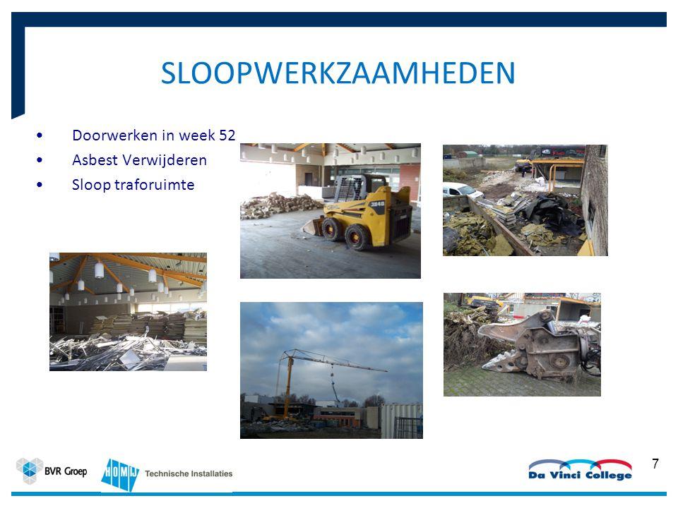 7 SLOOPWERKZAAMHEDEN Doorwerken in week 52 Asbest Verwijderen Sloop traforuimte