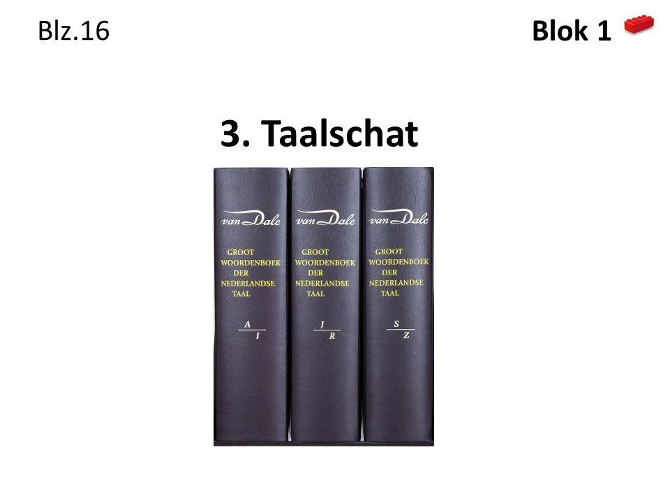 3. Taalschat Blz.16 Blok 1