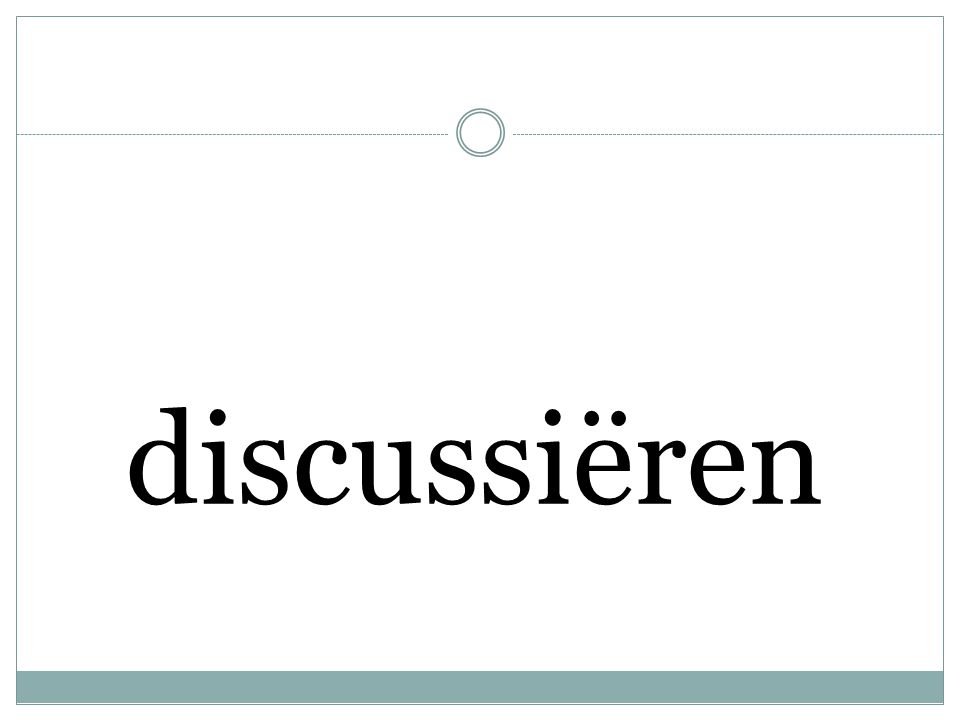 discussiëren