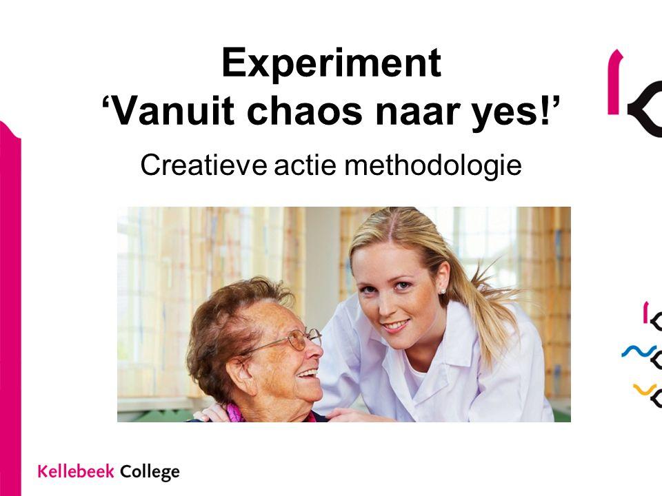 Experiment 'Vanuit chaos naar yes!' Creatieve actie methodologie