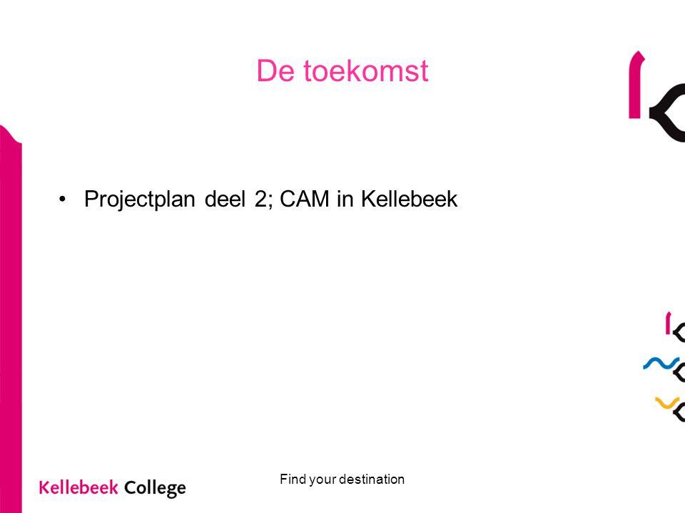 De toekomst Projectplan deel 2; CAM in Kellebeek Find your destination