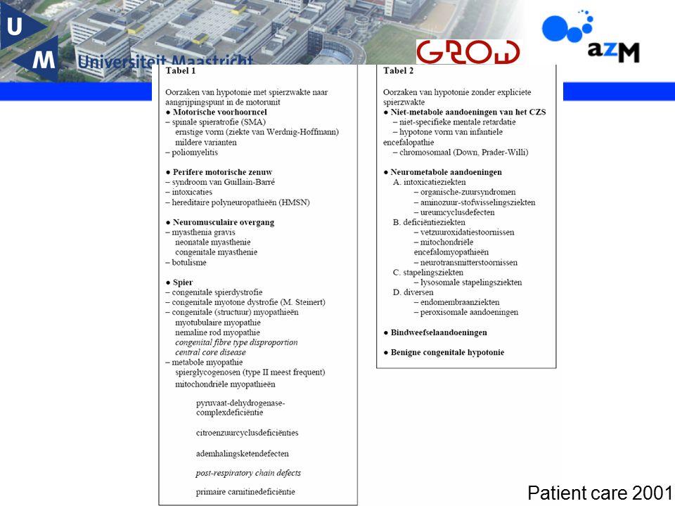 Myotone dystrofie type I Ziekte van Steinert Meest voorkomende erfelijke neuromusculaire aandoening 1:8000 in West-Europa